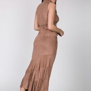 CQbyCQ Faux Suede Skirt Set
